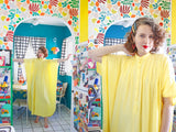 Butter Yellow Cotton Caftan | Free Size