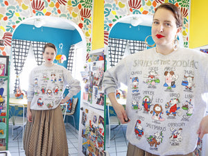 SOLD Zodiac Cat Sweatshirt | XL