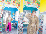 SOLD Animal Print Trench Coat L|XL