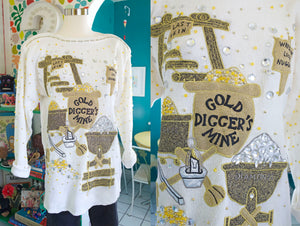 SOLD Gold Digger's Mine Ramie Sweater | Large