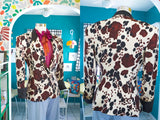 SOLD Silk Cow Print Blazer | Small