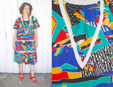 SOLD Abstract Print Muumuu Dress | XL