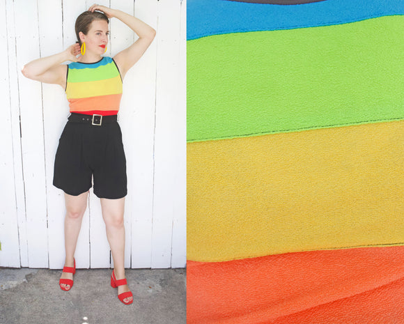 Rainbow Belted Romper M|L