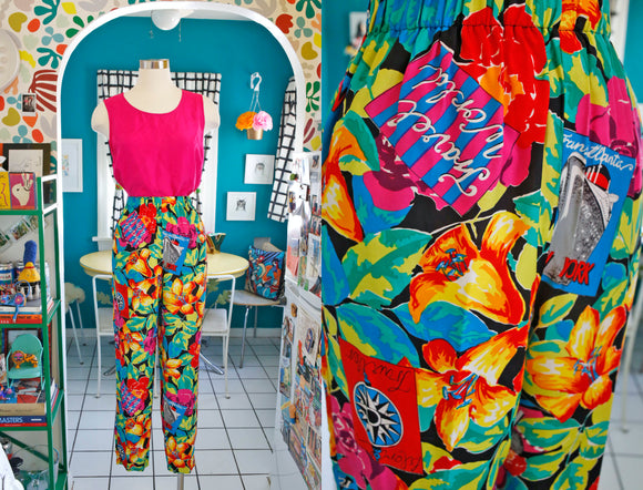 Carol Anderson Tropical Print Pants | Medium