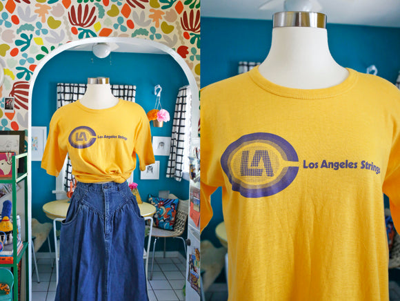 SOLD Los Angeles Strings Tennis T-Shirt | Medium