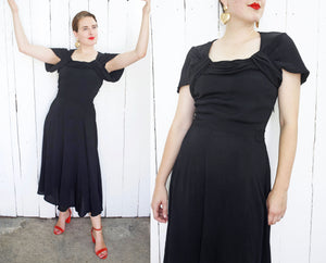 SOLD Carole Little x Saint-Tropez Black Dress | Medium