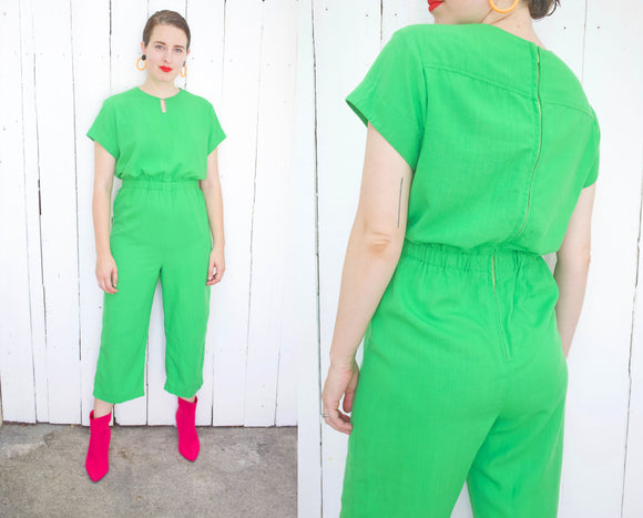 SOLD Granny Apple Green Jumpsuit | Large