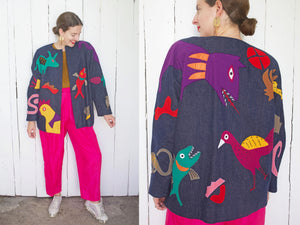 Girasol Dark Denim Animal Jacket | Large - Coast to Coast Mobile Vintage