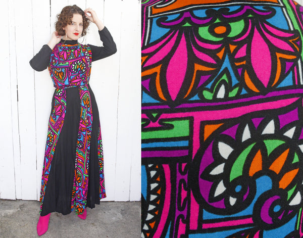 Stained Glass Print Dress | Medium