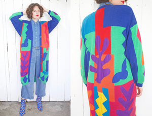 Amazing Matisse Inspired Cotton Blend Cardigan M|L - Coast to Coast Mobile Vintage