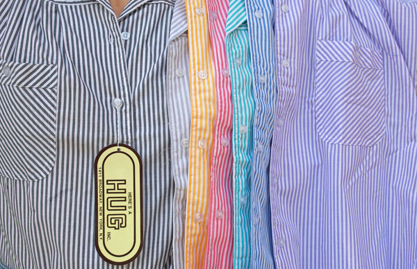 """Candy Striper"" Cotton Blend Blouse S