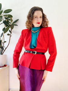 Sasson Scarlet Red Tailored Blazer | Medium