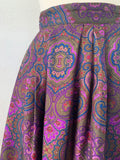 Purple Paisley Silk Skirt | Medium