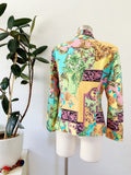Pastel Versace Baroque Inspired Print Blazer | Medium