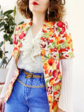 Escada Fruit Print Short Sleeve Blazer | Small
