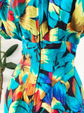 Karen Alexander Tropical Print Dress | Small