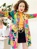 Gitano Versace Inspired Colorful Baroque Print Blouse | Medium