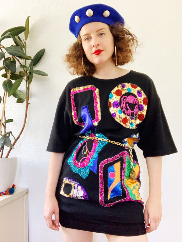 Sequin Frame T-Shirt | XL