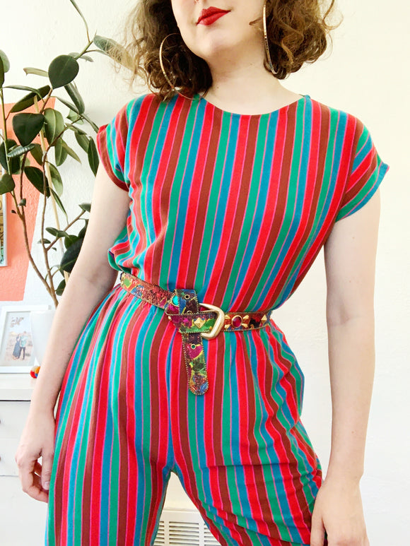 Colorful Striped Two Piece Set | Large