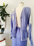 Judith Ann Creations Beaded Lavender Silk Two Piece | Large