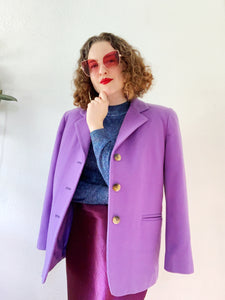 Lilac Wool Cashmere Blend Blazer | Medium