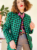 Mint Chocolate Chip Gingham Jacket | Large