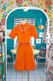 Orange Linen Shorts Set | Medium