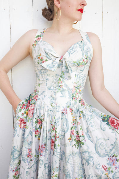 Karen Alexander Floral Print Dress | Medium