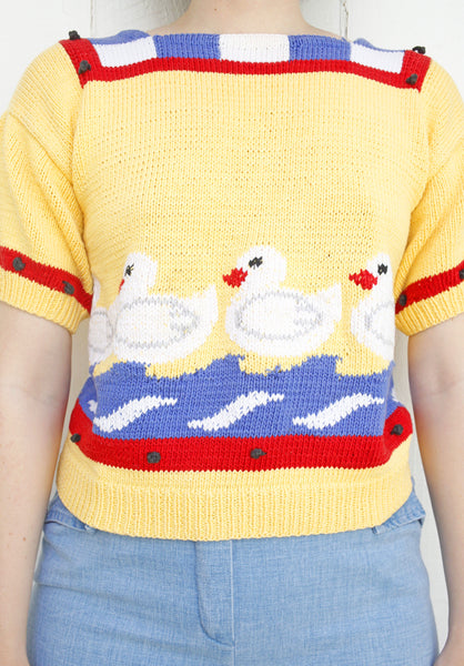 Berek Hand Knit Cotton Sweater S|M