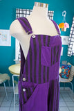 SOLD Live In Color Purple Striped Overalls | Medium