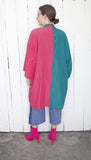 SOLD Silk Blend Color Blocked Robe Jacket | One Size - Coast to Coast Mobile Vintage