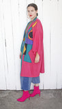 SOLD Silk Blend Color Blocked Robe Jacket | One Size