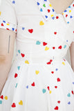 SOLD Heart Print Cotton Dress | Medium