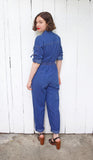 SOLD Zip Front Denim Jumpsuit | Petite Medium