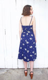 SOLD Lanz Navy Cotton Sundress | Small