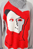 Rare Tan-Gan Abstract Face Sweater | XL