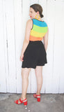 SOLD Rainbow Belted Romper M|L
