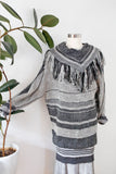 SOLD Cool Striped Woven Fringe Dress S|M