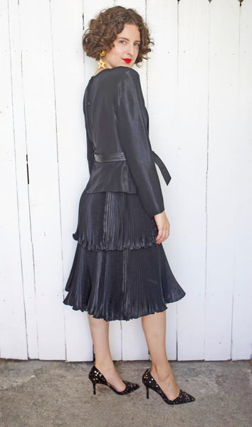 10.9 Bernard Perris Black Cocktail Party Dress - Coast to Coast Mobile Vintage