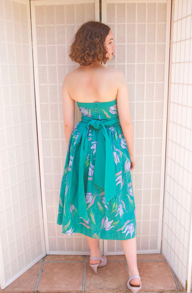 Laura Ashley Strapless Floral Dress | XS