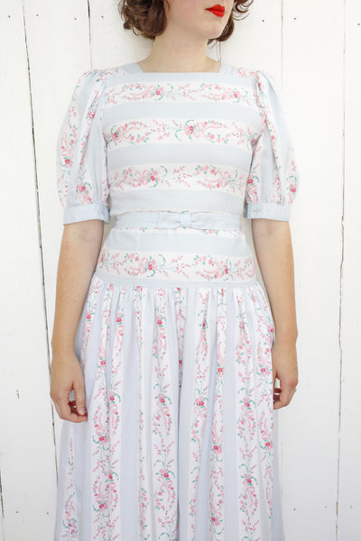 Lanz Belted Floral Dress | Small