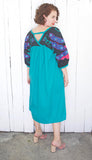 SOLD Peacock Applique Maxi Dress L|XL