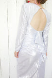 Silver Metallic BB Collections Party Dress | Medium