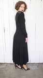 Black Beaded Lambswool Sweater Dress | Medium