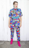 SOLD Tropical Toucan Print Jumpsuit M|L