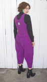 Purple Cotton Jumpsuit | Medium