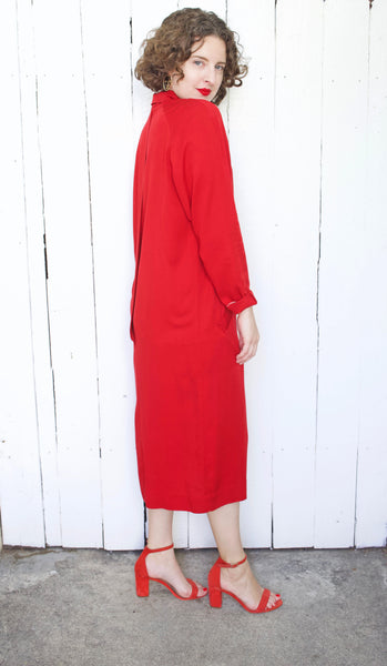 Albert Nipon Red Executive Dress | Medium