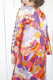 SOLD Amazing Peter Max Inspired Print Dress S|M