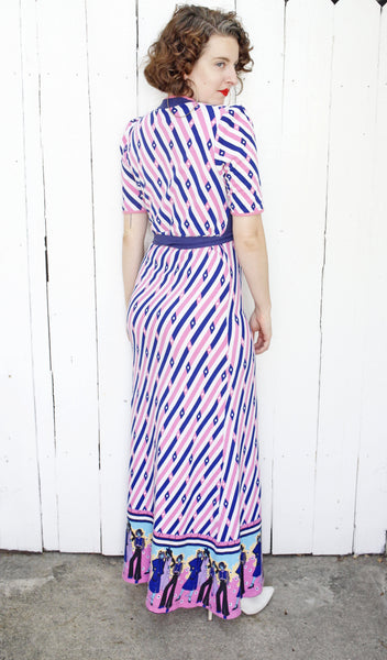 Novelty Striped Maxi Dress | Medium