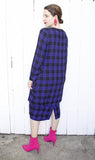 Ma Mere Plaid Flannel Dress | Large